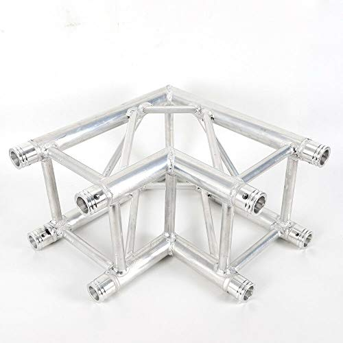 (WUPYI 2 Way 90 Degree Truss Corner,Square Truss Corner Block Lighting Trussing Section Ritual Combination Binding for Stage,Concert,Nightclub)