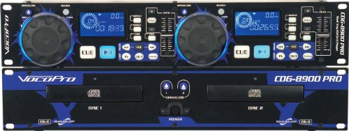 VocoPro Professional Dual Tray CD/CD+G Karaoke Player