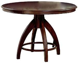 Hillsdale Nottingham Round Pedestal Dining Table, Dark Espresso