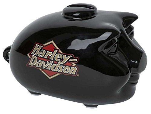 Logo Ceramic - Harley-Davidson Core H-D Logo Ceramic Mini Hog Bank - Gloss Black HDX-99103