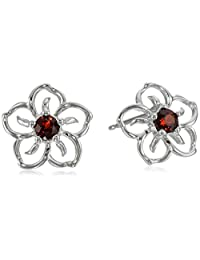 Sterling Silver Sky Flower Stud Earrings