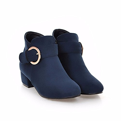buckle Terry with boots suede belt size Blue Winter boots large CawqfAf