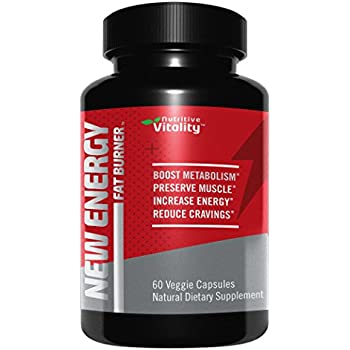New Energy Fat Burner - Weight Loss Supplement, Appetite Suppressant and Energy Booster - Premium Fat Burning Garcinia Cambogia, Green Coffee Extract and Much More - 60 Natural Veggie Pills