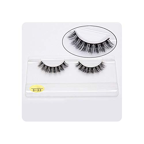 Natural 3D 100% Mink False Eyelashes Thick Eyelash Extension Volume Long False Eyelashes Makeup Cilia Soft Fake Lashes,S33