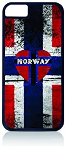 Norwegian Flag Iphone 4 Rubber DOUBLE LAYER PROTECTION black case - compatible with Iphone 4 4S