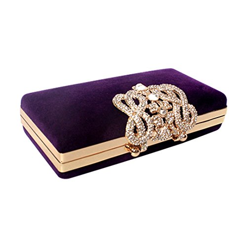 UPC 716670602375, Marca west Womens Evening Cocktail Wedding Party Handbag Clutch Purse Wallet Decorative drill Deep Purple
