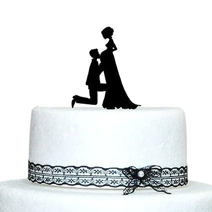 Amazon.com: Buythrow Pregnant Bride and Groom Silhouette Wedding ...
