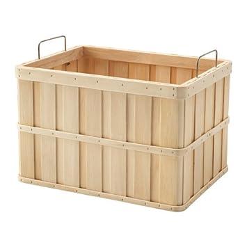 Ikea brankis cesta en color natural; de madera maciza; (36 x 27 x 23 cm): Amazon.es: Hogar