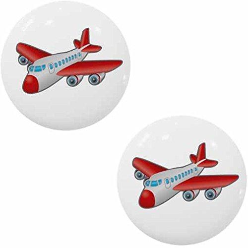 Drawer Knob Plane (Set of 2 Jet Plane Ceramic Cabinet Drawer Knob)