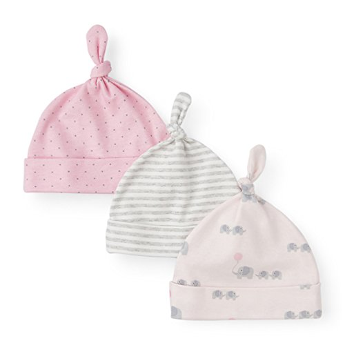 The Children's Place Baby 3 Pack Newborn Layette Hats, Baby Pink 90191, 0-6MONTHS