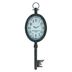 Benzara Elegant Design Wall Clock, Antique Finish