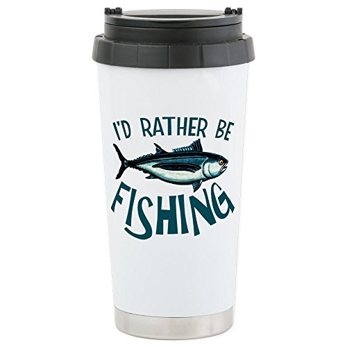 CafePress - Stainless Steel Travel Mug - Stainless Steel Travel Mug, Insulated 16 oz. Coffee Tumbler (Travel Fishing Mug)
