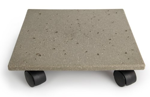 Plastec CD712 Terra Stone Plant Caddy (Stand Square Planter)