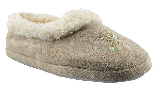 Mocassini Da Donna In Pelle Sintetica Slumberz Shoes L (7/8) Beige
