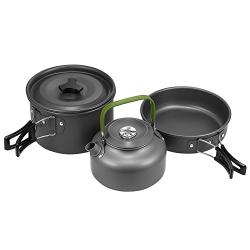 Terra Hiker Camping Cookware, Nonstick, Lightweight Pots, Pans with Mesh Set Bag for Backpacking, Hiking, - For Essentials Camping
