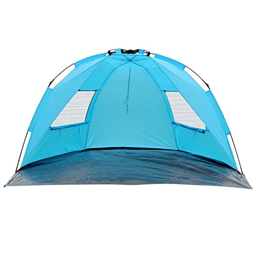 ShinyFunny Easy Pop Up Beach Tent Instant Sun Shade Shelter Portable Half Camping Tent with Carry Bag