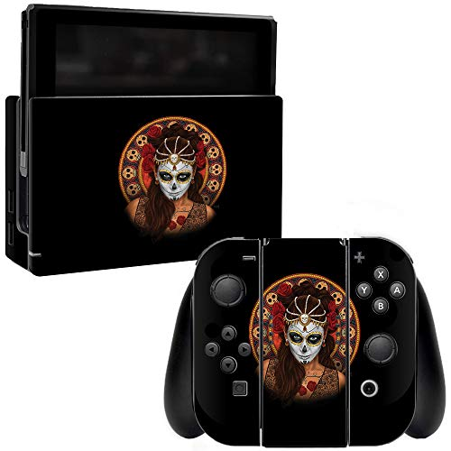 MightySkins Skin Compatible with Nintendo Switch - Dia De Muertos | Protective, Durable, and Unique Vinyl Decal wrap Cover | Easy to Apply, Remove, and Change Styles | Made in The USA]()
