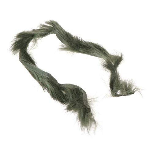 (Rabbit Zonker Strips Fly Fishing Tying Barred Vertical Cut Streamer Animal Hair (Color - 9#))