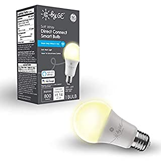 C by GE Soft White Direct Connect Light Bulb (1 A19 Smart LED Bulbs), 60W Replacement, 1-Pack, Bluetooth Light Bulb, Wi-Fi Light Bulb, Smart Light Bulb Works with Alexa and Google Home Without a Hub