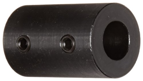 Climax Part RC-062 Mild Steel, Black Oxide Plating Rigid Coupling, 5/8 inch bore, 1 1/4 inch OD, 2 inch Length, 5/16-18 x 5/16 Set -
