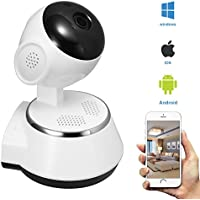Indoor Wifi Wireless IP Home Security Cameras HD 720P with Night Vision,Motion Detection,2 Way Audio,Mobile App+PC