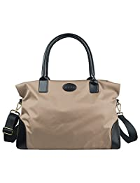 ECOSUSI Nylon Travel Duffel Bag Carry-on Weekend Overnight Tote Shoulder Handbag Soft Satchel for Women 25L