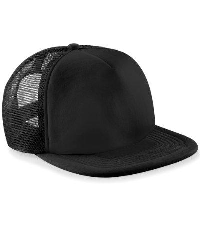 New Mens Beechfield Retro Style Snapback Adjuster Trucker Baseball Cap One Size
