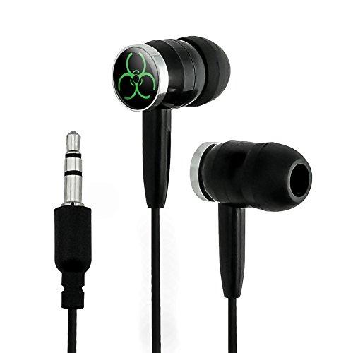 Biohazard Warning Symbol Green Novelty In-Ear Earb...
