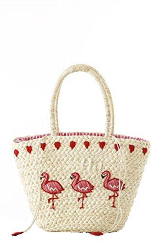 Mogor Women Straw Shoulder Bag A5 Woven...