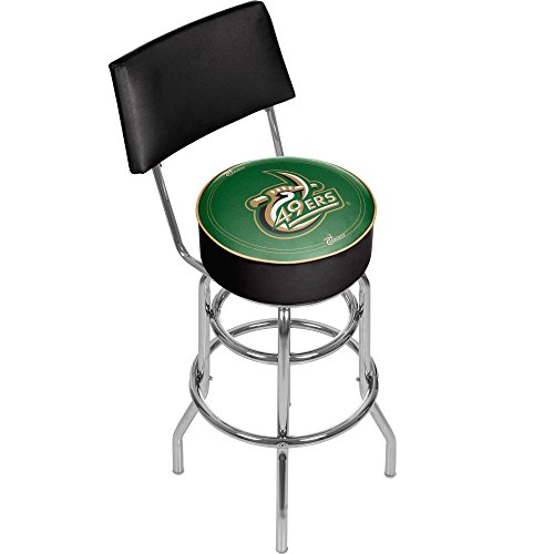 NCAA University of North Carolina Charlotte Padded Swivel Bar Stool with Back