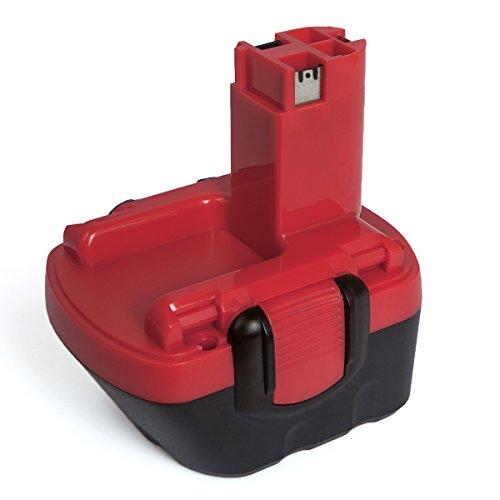 Bosch BAT043 Ersatzakku, FLAGPOWER Werkzeug Akku für Bosch BAT043 BAT139 2607335541 Bosch 22612 23612 3360 3360K 3455 3455-01 32612 Serien 12V 2000mAh Ni-CD Batterie