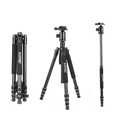 ZOMEi Z668C Lightweight Travel Carbon Fiber Tripod FOR All Canon Sony Nikon Samsung Panasonic Olympus Kodak Fuji DSLR Cameras And Camcorders by ZOMEI