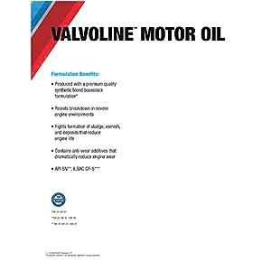 Valvoline 10W-30 Premium Conventional Motor Oil - 5qt (779307)