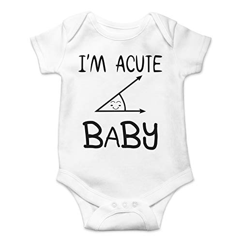 (Acute Novelty Baby Romper - Geeky Math Humor - Funny Cute Novelty Infant Creeper, One-Piece Baby Bodysuit (White,)