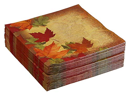 48-Count Thanksgiving Paper Dinner Napkins, Autumn's Elegance]()
