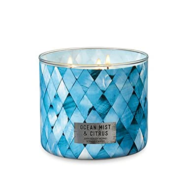 Bath and Body Works White Barn 3-Wick Scented Candle in Ocean Mist and Citrus