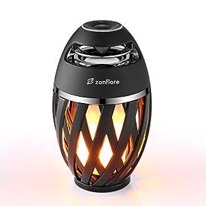 Zanflare Lampe Ambiance avec Effet de Flamme, Enceinte Bluetooth, USB Rechargeable, sans Fil, Etanche IP65 Lampe Design Moderne, Lampe de Chevet avec Haut-Parleur 4