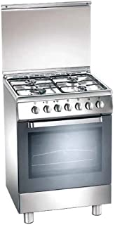 glem gas a654vi cucina 60x50 cl.a f.gas inox vent.: amazon.it ... - Cucine Glem Gas