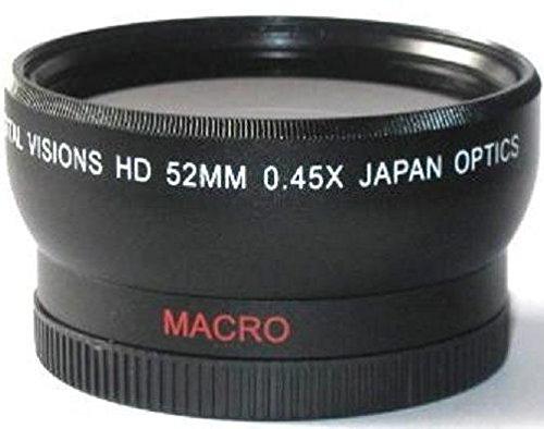 52mm Digital Vision Wide Angle Lens for Panasonic HC-WXF991K HC-VX981K HC-WX970 HC-X920 HC-X900 HC-VX870 HC-W850 HC-V770 HC-V750 by Digitalsaleonline2