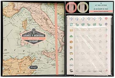Mr. Wonderful Kit Scrapbooking para álbum de Viaje-Lugares y Aventuras Que Nunca olvidaré, Multicolor, Talla única