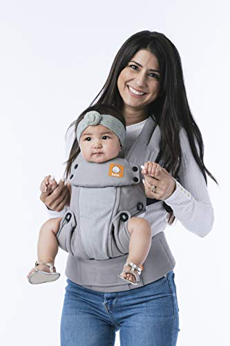 (Baby Tula Coast Explore Mesh Baby Carrier 7 - 45 lb, Adjustable Newborn to Toddler Carrier, Multiple Ergonomic Positions Front and Back, Breathable - Coast Overcast, Light Gray with Light Gray Mesh)