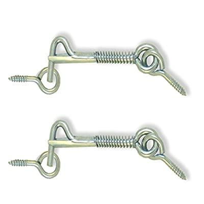 """Safety Latch Eye and Hooks 2"""" - Eye distance can vary from 2.1/4"""" to 2.1/2"""" 2 pack ALDABA o GANCHO para Puerta MADOL [1860-2]"""