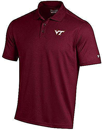 Hokies Under Armour - Under Armour Virginia Tech Hokies Mens Maroon Performance Polo Shirt (XL=48)