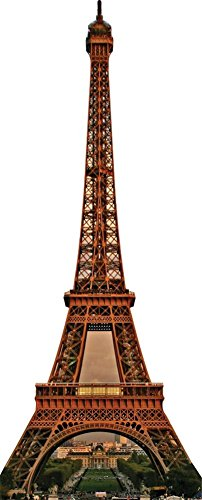 Eiffel Tower Standup Cardboard Cutouts 36 x 88in by Starstills UK - Famous Landmark Cardboard Cutouts
