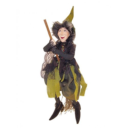Witches of Pendle - Rebecca Witch Flying (Green) 32cm ()