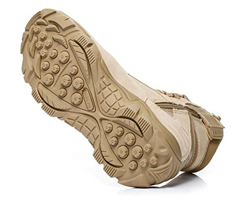 GLSHI Hombres al aire libre impermeable zapatillas transpirable baja subida táctico desierto botas cálidas botas al aire libre botas de escalada sand color