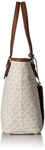 Michael Kors Mk Jet Set Signature Shoulder Bag, Vanilla , Large by Michael Kors (Image #3)