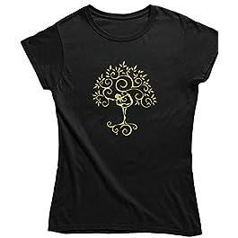 Live2Inspire Tree Yoga Pose Ladies Yoga T Shirt (Y24) Women's Yoga top, Yoga Clothing, Spiritual Clothing