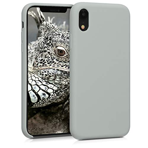 kwmobile TPU Silicone Case for Apple iPhone XR - Soft Flexible Rubber Protective Cover - Light Grey Matte