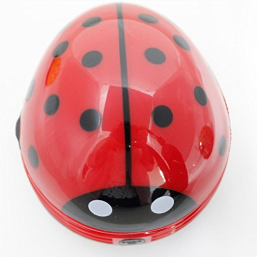 Glorrt Cute Mini Beetles Corner Desk Table Dust Vacuum Micro Cleaner Sweepers - Ladybug Robotic